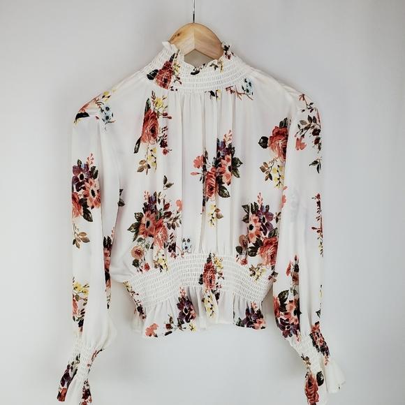 Shinestar L high neck blouse
